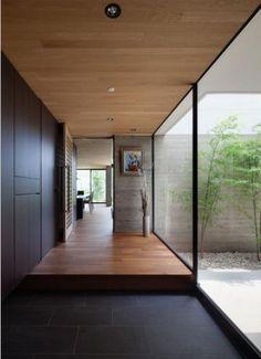 Trendy Home Dream Exterior Entrance Ideas Interior And Exterior, Exterior Design, Japanese Modern House, Courtyard House, House Entrance, Entrance Ideas, Entry Foyer, Trendy Home, House And Home Magazine