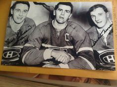 Jean Béliveau, Maurice Richard & Dickie Moore Montreal Canadiens, Maurice Richard, Hockey Pictures, Nhl, Sports, Legends, Hs Sports, Sport