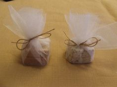 Shower favors . . . little guest size soaps wrapped in tulle