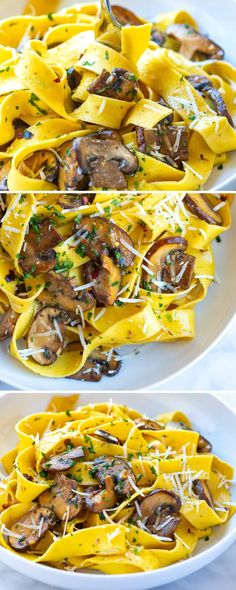 Mushroom pasta with the most delicious garlic butter mushrooms. Thanks to our no-fail method for cooking mushrooms, this easy pasta comes together in under 30 minutes and tastes amazing! Garlic Butter Mushrooms, Mushroom Pasta, Yummy Pasta Recipes, Casserole Recipes, Snack Recipes, Dinner Recipes, Vegan Recipes, No Carb Bread, Bulgur Salad
