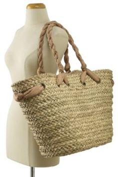Cute straw beach bag | Straw Bags | Pinterest | Beaches, Straw ...