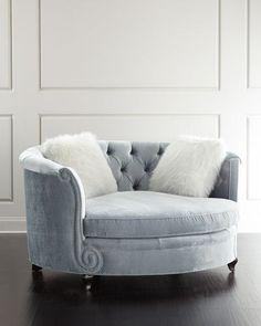 H8N5C Haute House Harper Tufted Cuddle Chair