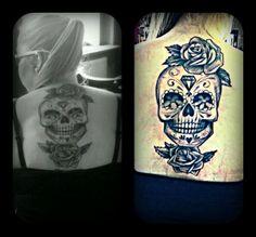 My new tattoo... skull, sugar skull :) <3