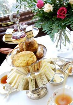 Afternoon Tea with High Tea Sandwiches English Afternoon Tea, Afternoon Tea Recipes, Afternoon Tea Parties, Afternoon Wedding, High Tea Parties, English High Tea, English Tea Time, Sandwich Croque Monsieur, Simply Yummy