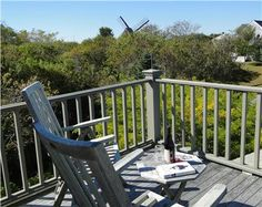 Lovely, relaxing Widow's Walk with seating and views of  the Old Mill on Nantucket