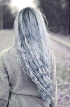 blue gray hair via patternity