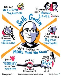 It's Season 6 of The Sophisticated Marketer's Podcast – and we're kicking off with a true marketing visionary. Here are Seth Godin's seven life-changing ideas for marketers (and everyone else) Seth Godin, Strategy Quotes, Tribe Quotes, Visual Note Taking, Content Marketing, Marketing Guru, Totems, Everyone Else, Leadership