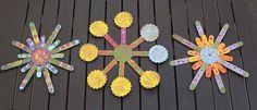 Summer Crafts For Kids: Sunburst Popsicle Stick Art!