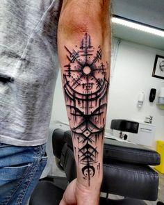 """Motif """"trash Nordic"""" by Viking Tattoo Sleeve, Viking Tattoo Symbol, Norse Tattoo, Celtic Tattoos, Viking Tattoos, Forarm Tattoos, Body Art Tattoos, Hand Tattoos, Tattoo Ink"""