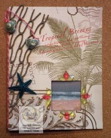 Chattering Robin's: Tropical Beach Peek-a-Boo Interactive Card
