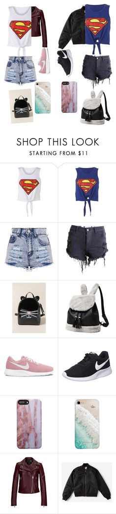 """""""Super bffs"""" by avalgee ❤ liked on Polyvore featuring Francesca's, NIKE, Gray Malin, MCM and Everlane"""