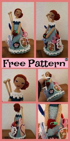 Crochet Weebee Sally Doll Kit – Free Pattern #freecrochetpatterns #crochetdoll #organizer