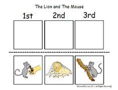 The Lion And The Mouse Story Sequencing Cards - story cards ...