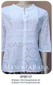 Resultado de imagen para blusas cambraia bordada
