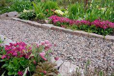 Istutusten ja nurmikon rajaus - Kotipuutarha Garden Paths, Stepping Stones, Landscape, Outdoor Decor, Flowers, Plants, Image, Gardening, Home Decor