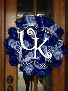 University Of Kentucky Deco Poly Mesh Wreath. $75.00, via Etsy.