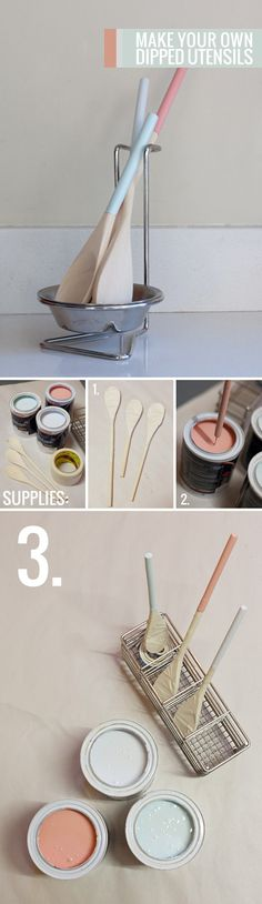 make your own dipped utensils | curate this space