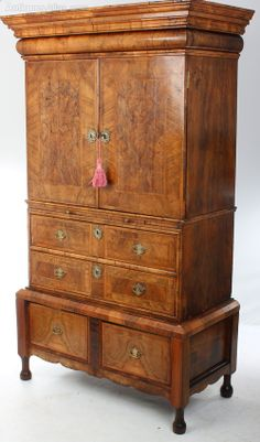 Queen Anne Walnut Cabinet On Stand Material: walnut Origin: English Condition: Superb circa 1740