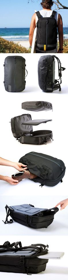 Its the one modular bag for ALL OCCASIONS, connecting work and play. SLICKS is an ideal carry-on for leisure getaways, a compact all-rounder on business trips and a practical companion for daily commutes to work. In just a few simple steps, it transforms from a sleek carry-on travel backpack to a discrete office-friendly briefcase or a trendy shoulder bag, adapting easily to business or leisure environments...