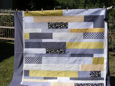 Yellow and Gray quilt