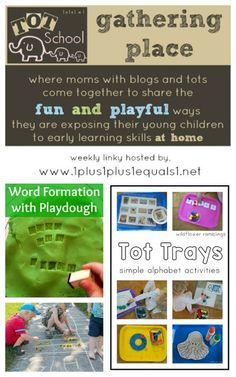 Tot School Gathering Place Week 123 ~ Tot Trays, Dandelions and Word Play!