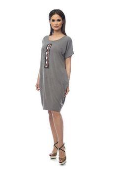 Rochie larga cu motiv traditional RCBM44 -  Ama Fashion Shirt Dress, T Shirt, Cold Shoulder Dress, Traditional, Dresses, Fashion, Moda, Shirtdress, Tee Shirt