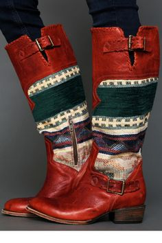 25 Southwestern Pieces To Add Some Spice To Your Wardrobe  - Freedbird boots by Steven Quixote