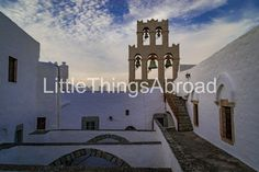 Bells of St John Monastery photo, Patmos, Greece, island, beautiful sky, serenity, sunset, travel photography, digital file instant download by LittleThingsAbroad on Etsy