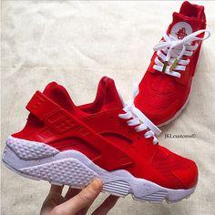 22fc9af97858 Red Nike huarache red nike huarache customs nike by JKLcustoms