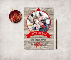 Christmas Card Printable, Family Christmas Card, Photo Christmas Card, Family Holiday Card, Printable Christmas Card, Digital File - pinned by pin4etsy.com
