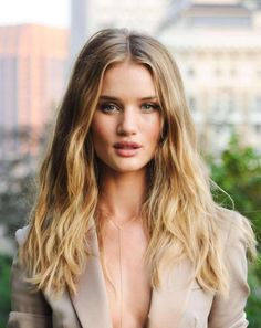 blended blonde ombre - Rosie Huntington Whiteley