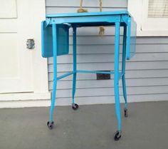 Sale Vintage Typewriter Table Metal Table by RhymeswithDaughter