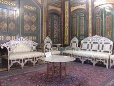 Pearly Furnitur in one of the rooms of the Qasr Al-Azem, قصر العظم