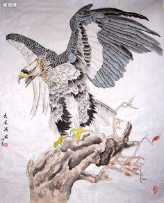 Китайская живопись - орлы