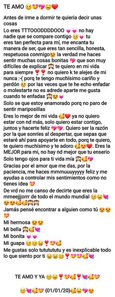 Friendship Text Messages, Cute Text Messages, Cute Texts For Him, Text For Him, Best Friend In Spanish, Pretty Words, Love Words, Love Paragraphs For Him, Romantic Memes