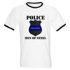 Police Men Of Steel T-Shirt > Police Men Of Steel Badge > The Art Studio by Mark Moore
