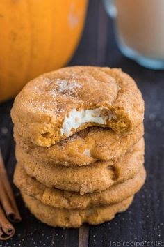 Pumpkin Cheesecake Snickerdoodles - wow these look good.