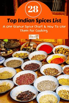 A list of Top 28 Indian spice list with images and their use for cooking. The handy list of Indian spices are all you need to know which spices are used to cook Indian food. Indian Spices List, List Of Spices, Indian Snacks, Indian Food Recipes, Indian Foods, Spicy Recipes, Drink Recipes, Rub Recipes, Curry Recipes