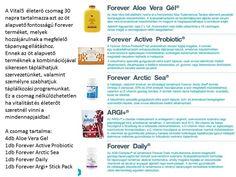 A Vital5 csomag 5 alapvető Forever terméket tartalmaz, melyek együttesen hozzájárulhatnak a jobb életminőséghez, mivel olyan kulcsfontosságú tápanyagokat biztositanak, melyek mint a szebb kinézetett, mind pedig a kellemesebb közérzet kialakitásában fontos szerepet játszanak.