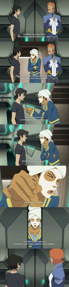 Voltron: Legendary Defender Keith is curious, Lance is overprotective and Coran is confused
