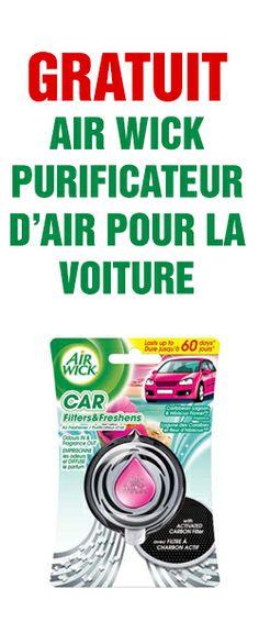 Remboursement d'achat Air Wick pour voiture. Fin le 31 décembre.  http://rienquedugratuit.ca/echantillon-gratuit/air-wick-pour-voiture/