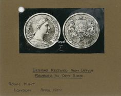 Original Drawing of the 5 Lats coin by Rihards Zarins (1929) courtesy of the Royal Mint Museum