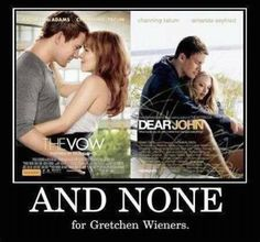 And none for Gretchen..