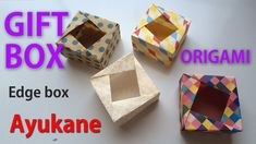 Origami gift box かんたん折り紙 箱