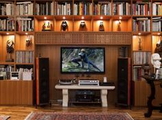 An example of home theatre system with Amati.