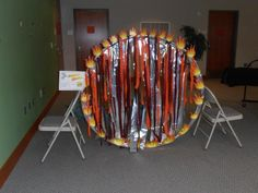 I like the flame ring idea as part of the Super Hero Training obstacle course from JMS Library Children's Department