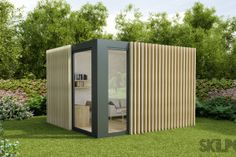Skilpod Bureau smal tuinbureau tuin kantoor klein Small Garden Office, Little Houses, Small Houses, Extra Rooms, Outdoor Furniture, Outdoor Decor, Pavilion, Outdoor Structures, Sheds