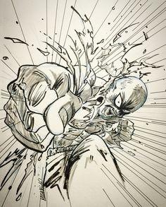 One Punch Man Saitama Manga Anime, Manga Art, Anime Art, Fighting Poses, Art Of Fighting, Saitama One Punch Man, Super Anime, Drawing Sketches, Drawings