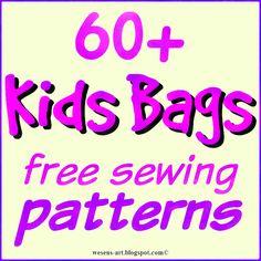 free Kids Bag Patterns