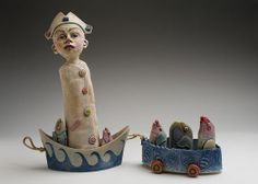 Fishing for Dreams Ceramic Sculpture by DianaFarfan on Etsy, $850.00